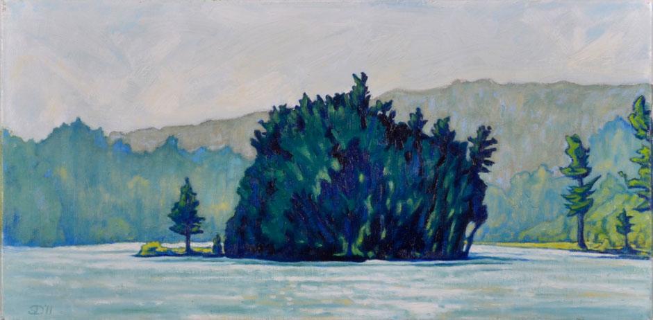 painting: Lake Island