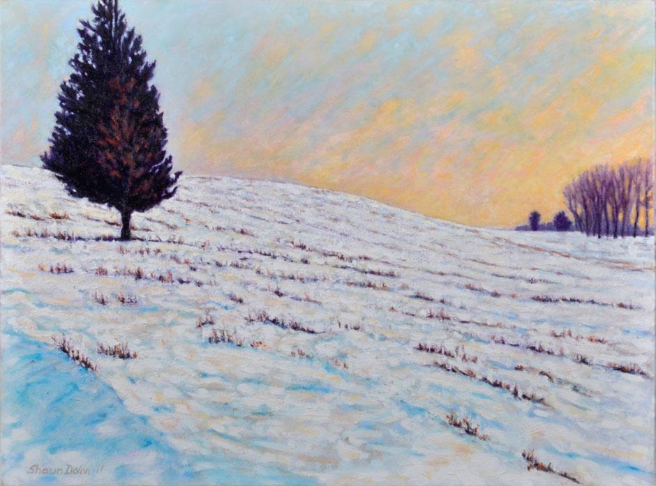 Painting, Lone Cedar in Winter