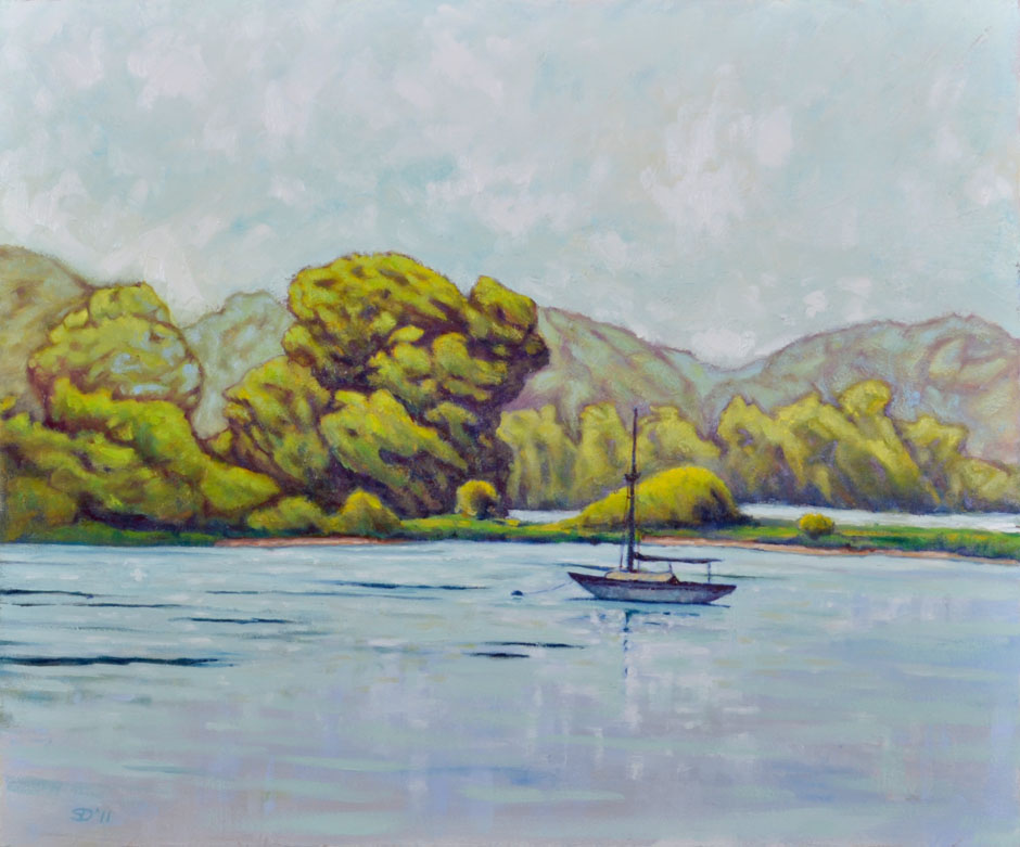 Painting, Morning on the Lagoon