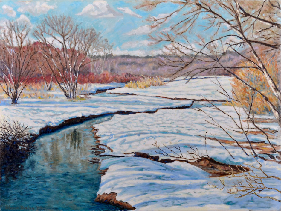 Painting, Thaw On The Stop River